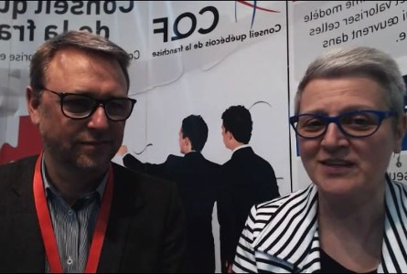 Laurent Dubernais, Président d'AGT, devenue Synergee et Micheline Bourque du CQF