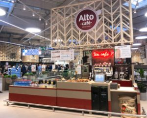 Implantation du kiosque Alto cafe dans la Fresh Avenue de Carrefour, Dijon Toison d'Or