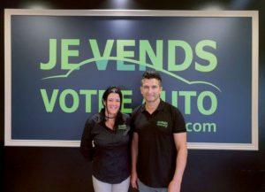 Florence Tissier et Didier Imbert, franchisés Je vends votre auto à Auxerre