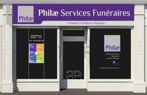 Vitrine Philae Services Funéraires
