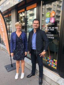 Julie Nowakowski et Christophe Averty franchisés Vivaservices