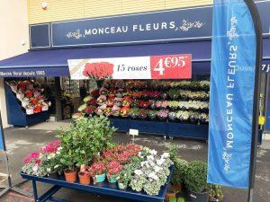 Franchise Monceau Fleurs à Chamant, dans l'Oise
