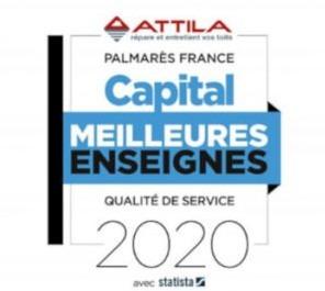 """Attila """"Meilleure enseignequalité et service"""" du magazine Capital en 2019 et 2020"""