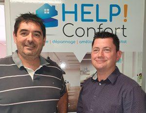 Ludovic Bourg et Jérôme Mauger, franchisés HELP Confort au Mans (72)