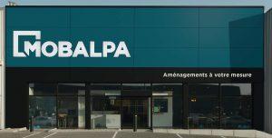 Façade magasin nouveau concept Mobalpa