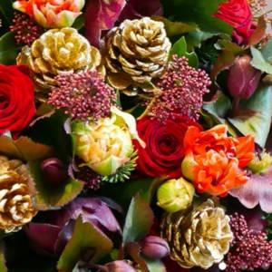 bouquet Noël Monceau Fleurs