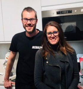 Antoine Grosse et Marion Cape, franchisés du magasin Mobalpa de Seclin
