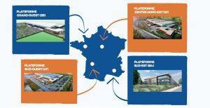 Les 4 plateformes logistiques régionales du réseau Biocoop