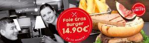 Franchise Poivre Rouge - Foie Gras Burger en édition limitée