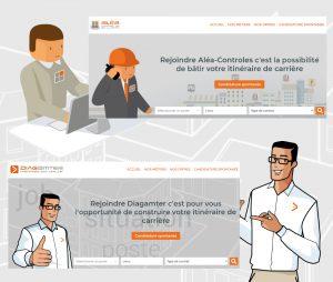 Nouveaux sites de recrutement Diagamter et Aléa Contrôles
