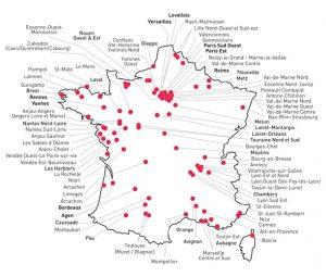 Implantations du réseau Les Menus Services