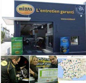 La franchise Midas : Les zones à développer