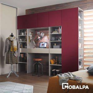 bureau intégré dans la chambre - Mobalpa
