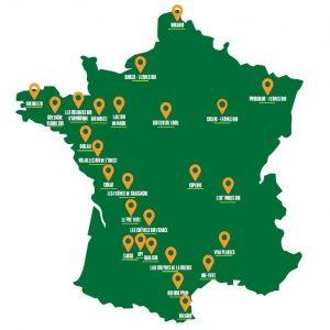 répartition des groupement fondateurs label Bio Equitable en France