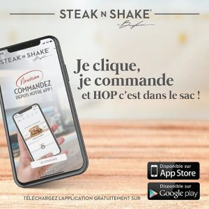 application steak n shake clique commande