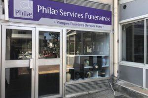 Extérieur agence Philae Services Funéraires Mandelieu