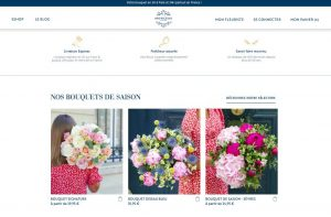 Nouveau site Monceau Fleurs - les bouquets de saison