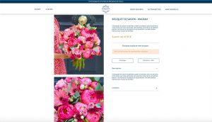 Nouveau site Monceau Fleurs - bouquet de saison Wagram
