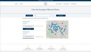 Nouveau site Monceau Fleurs - Liste des boutiques
