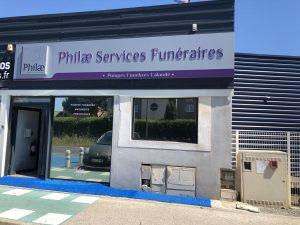 façade agence Philae Services Funéraires agde