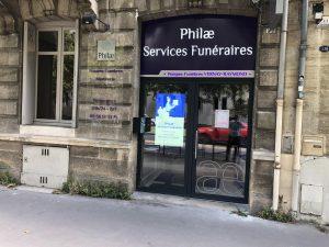 Philae Services Funéraires bordeaux extérieur