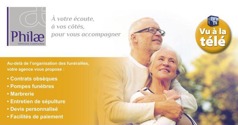 franchise philae services funéraires campagne tv