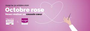 Octobre Rose franchise Mondial Tissus