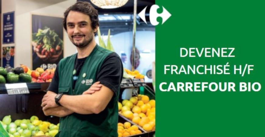 La franchise Carrefour Bio : la réponse à un marché en forte croissance