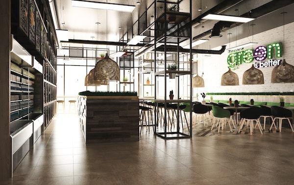 intérieur restaurant franchise green is better