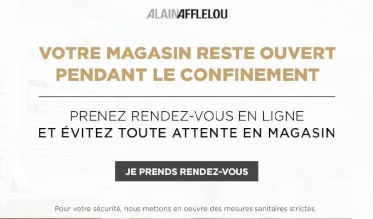 Alain Afflelou propose un nouveau service durant le second confinement