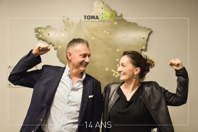 la franchise Toma Intérim a fêté son 14ème anniversaire