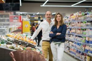 Sonia et Olivier chefs d'entreprise Intermarché et Netto