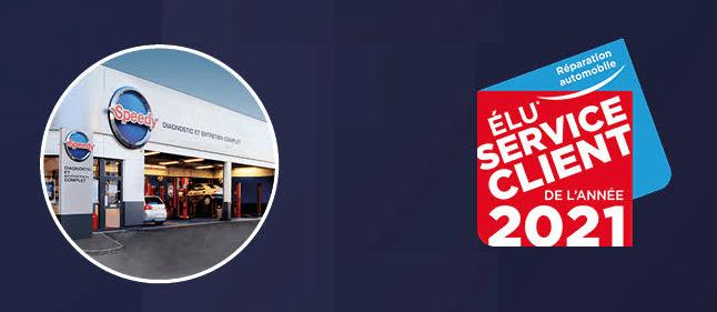 Speedy élu « Service Client de l'année 2021 »