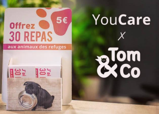 Tom&Co et YouCare s'engagent auprès des animaux de France