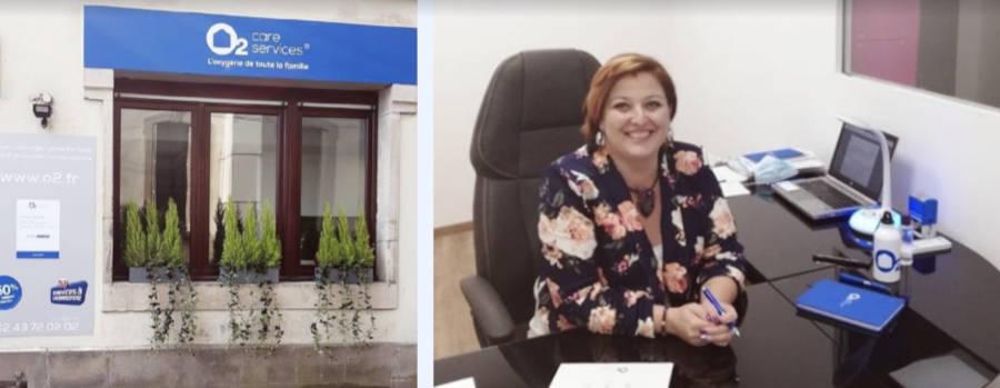 Sabrina Dubois, franchisée O2 Care Services à Remiremont
