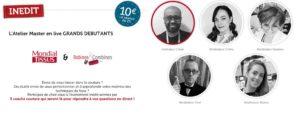 Le réseau Mondial Tissus organise un atelier Live pour les débutants