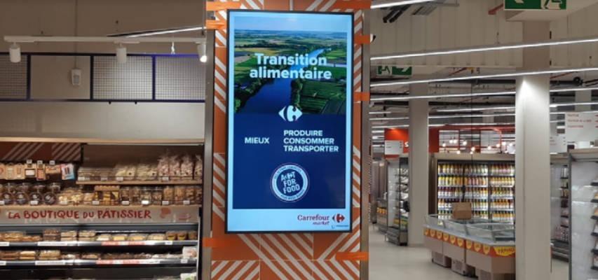Le Carrefour Market de Nice intègre l'affichage dynamique Visioscreen
