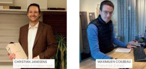 Christian Janssens et Maximilien Coilbeau franchisés Heytens