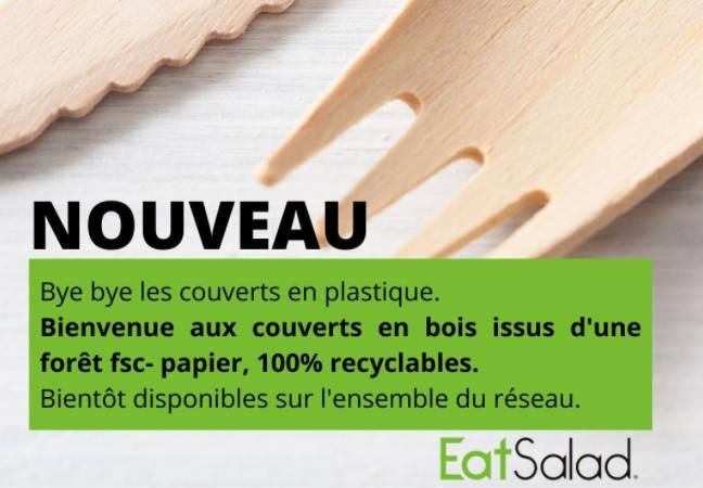 Les couverts en bois font leur entrée au sein du réseau Eat Salad