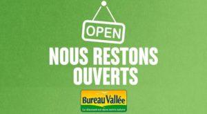Les magasins du réseau Bureau Vallée restent ouverts physiquement