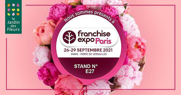 Le Jardin des Fleurs participe à Franchise Expo Paris en septembre