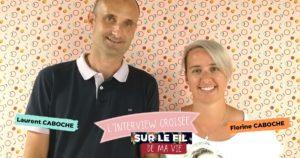 Laurent et Florine Caboche franchisés Mondial Tissus