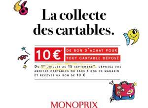 Le réseau Monoprix reprend les cartables et sacs dans 181 magasins