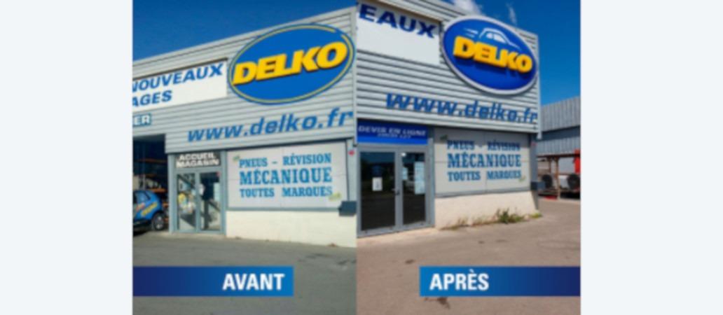 Le garage Delko Lunel se refait une beauté avec une nouvelle devanture